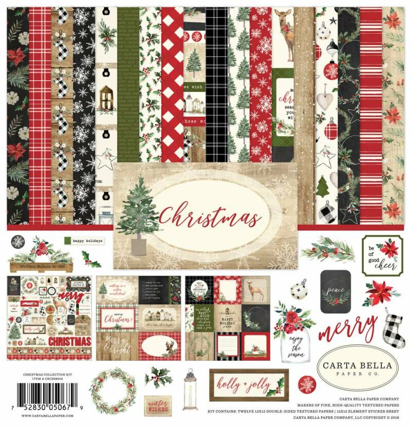 Carta Bella Christmas 12x12 Inch Collection Kit (CBCH89016)