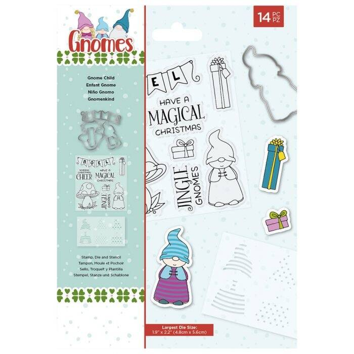 Crafter's Companion Gnomes Stamp/Die/Stencil Gnome Child (NG-GN-STD-GCHIL)