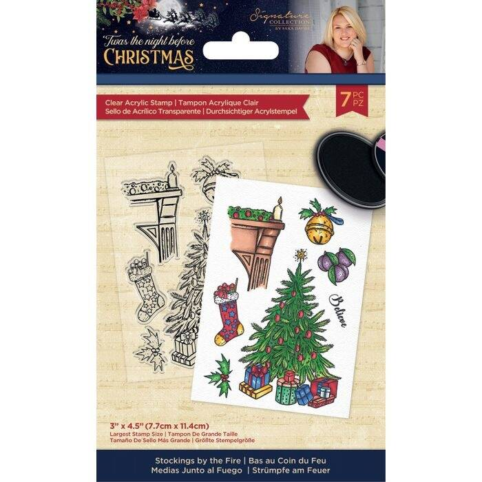 Crafter's Companion Twas the Night Before Christmas Clear Stamps Stockings by the Fire (S-TNBC-ST-SBTF)