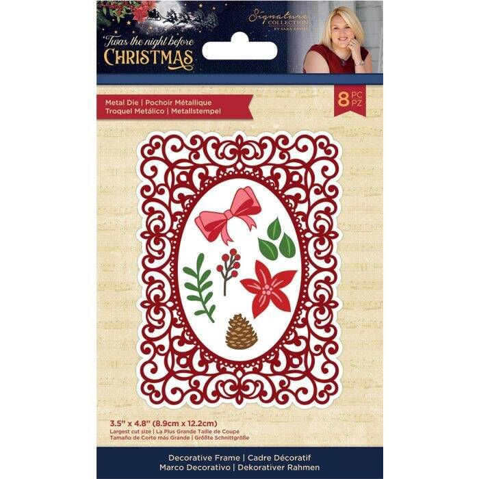 Crafter's Companion Twas the Night Before Christmas Metal Die Decorative Frame (S-TNBC-MD-DEFR)