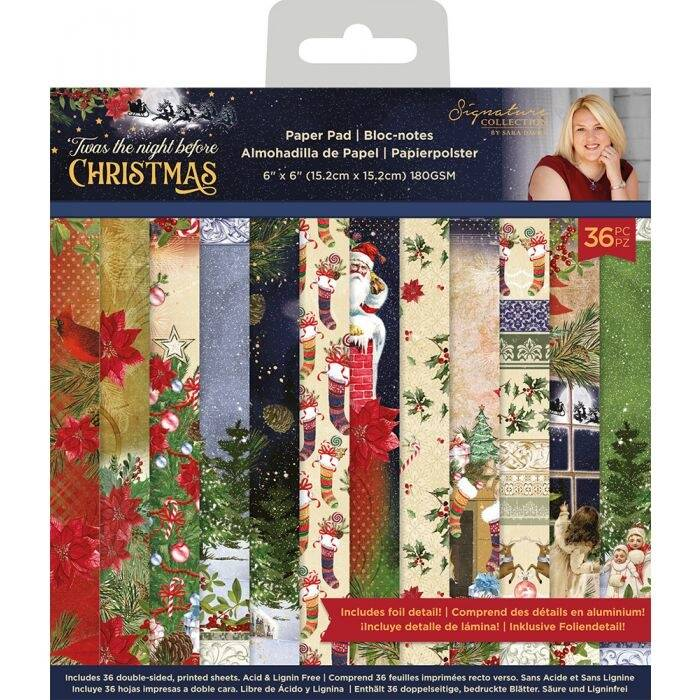 Crafter's Companion Twas the Night Before Christmas 6x6 Inch Paper Pad (S-TNBC-PAD6)