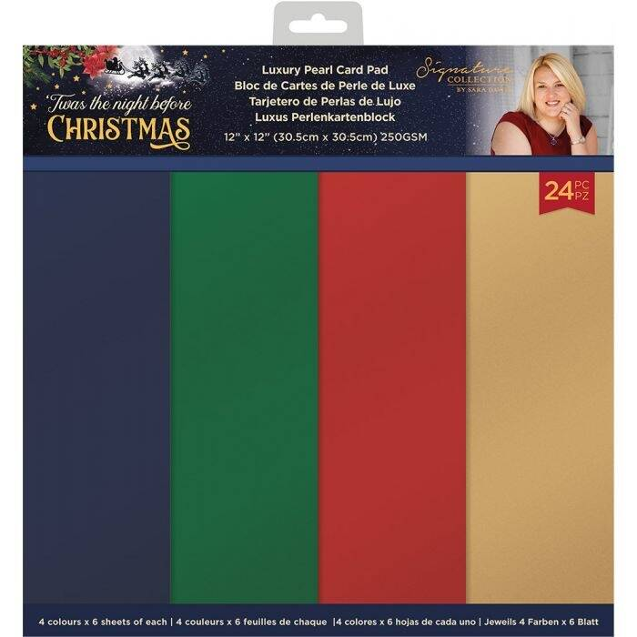 Crafter's Companion Twas the Night Before Christmas 12x12 Inch Pearlescent Card Pad (S-TNBC-PAD12-P)