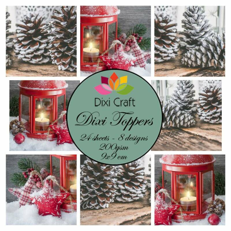 Dixi Craft Toppers Candle & Pinecones (ETL013)