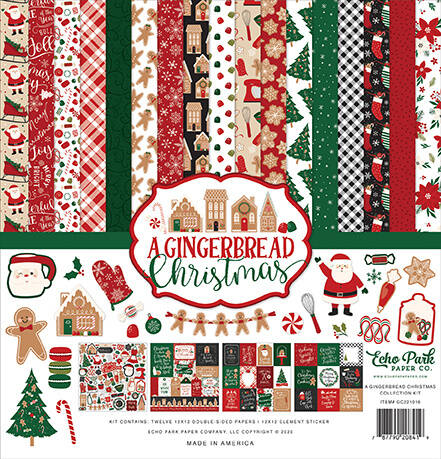 Echo Park A Gingerbread Christmas 12x12 Inch Collection Kit (GC221016)