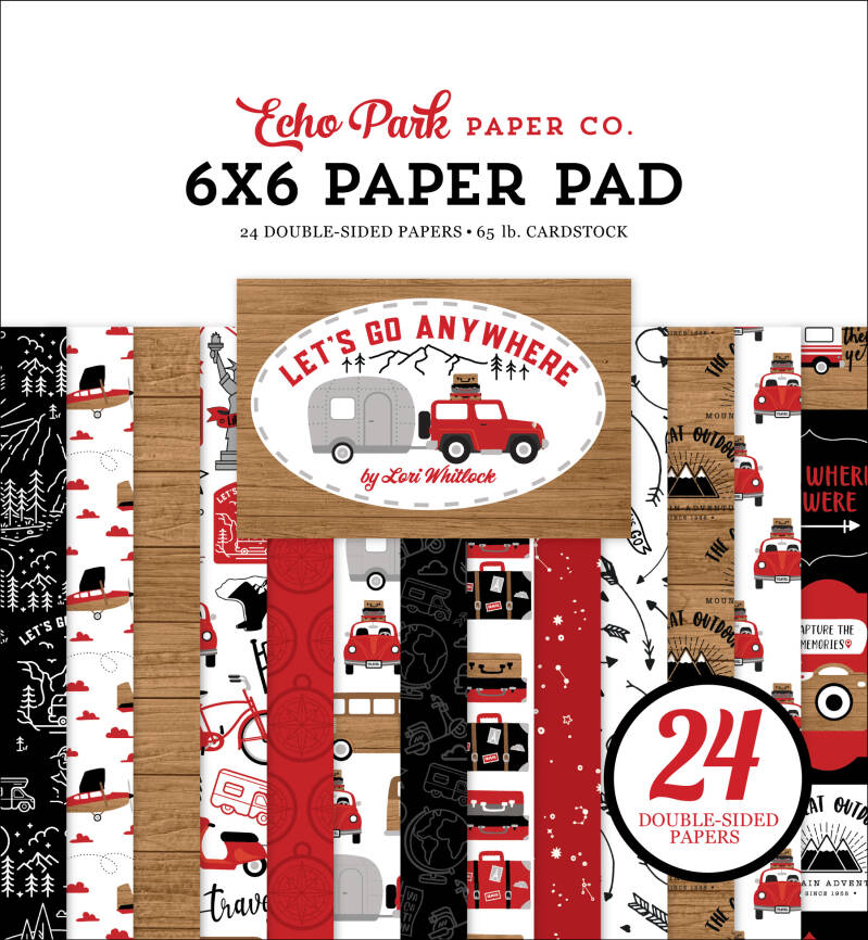 Echo Park Let's Go Anywhere 6x6 Inch Paper Pad (LGA242023)