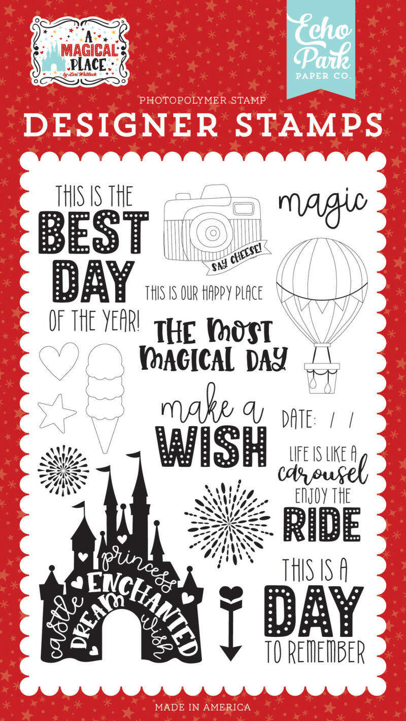 Echo Park Our Happy Place Clear Stamps (AMP239042)