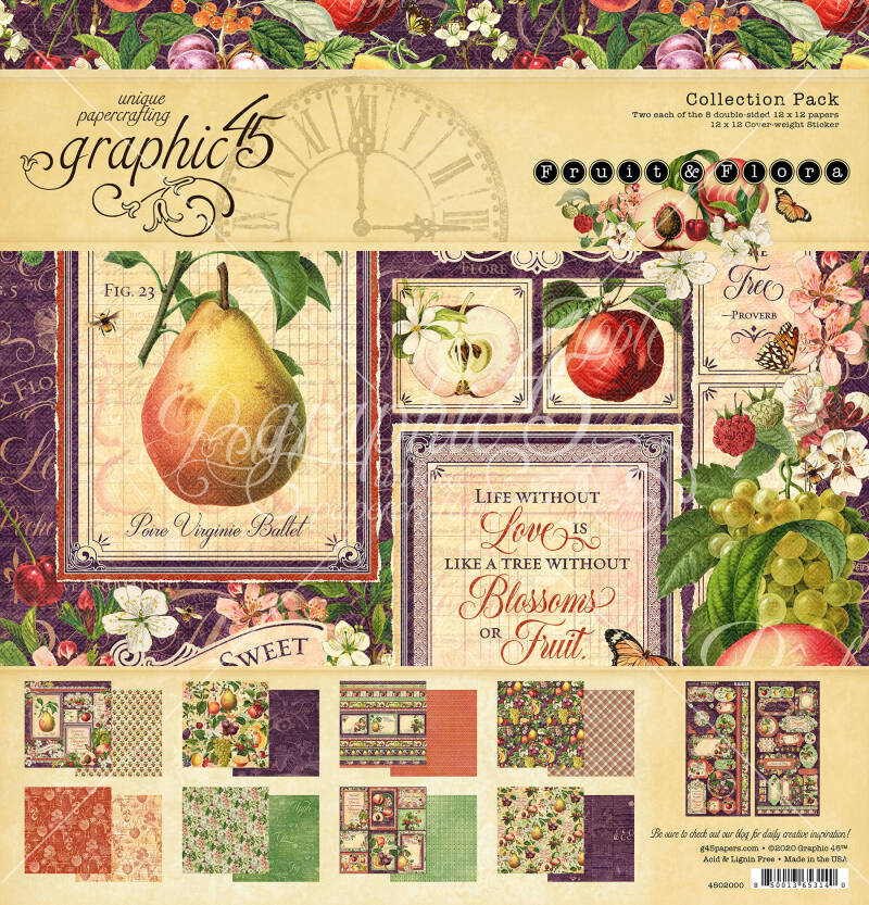 Graphic 45 Fruit & Flora 12x12 Inch Collection Pack (4502000)