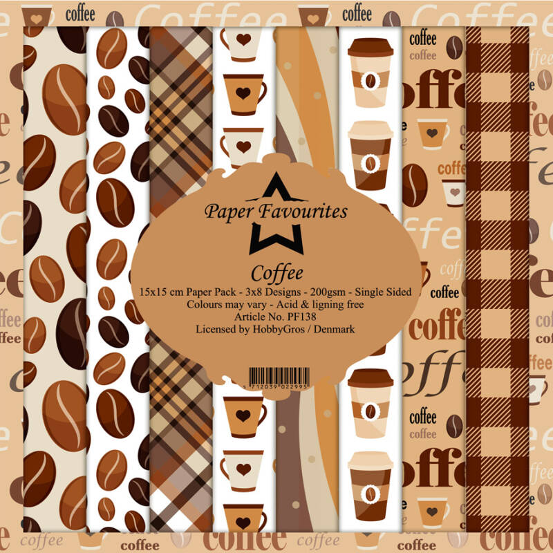 Paper FavouritesCoffee 6x6 Inch Paper Pack (PF138)