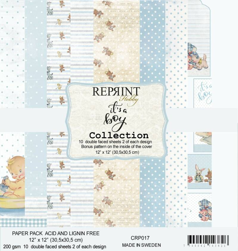ReprintIt´s a Boy Collection 12x12 Inch Paper Pack (CRP017)