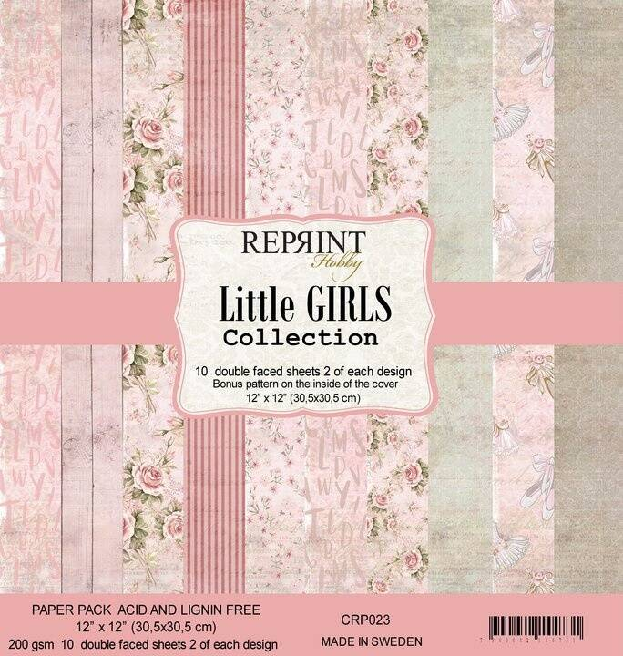 ReprintLittle Girls Collection 12x12 Inch Paper Pack (CRP023)