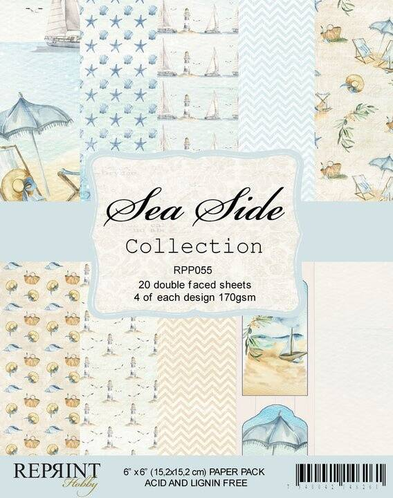 Reprint  Sea Side Collection 6x6 Inch Paper Pack (RPP055)