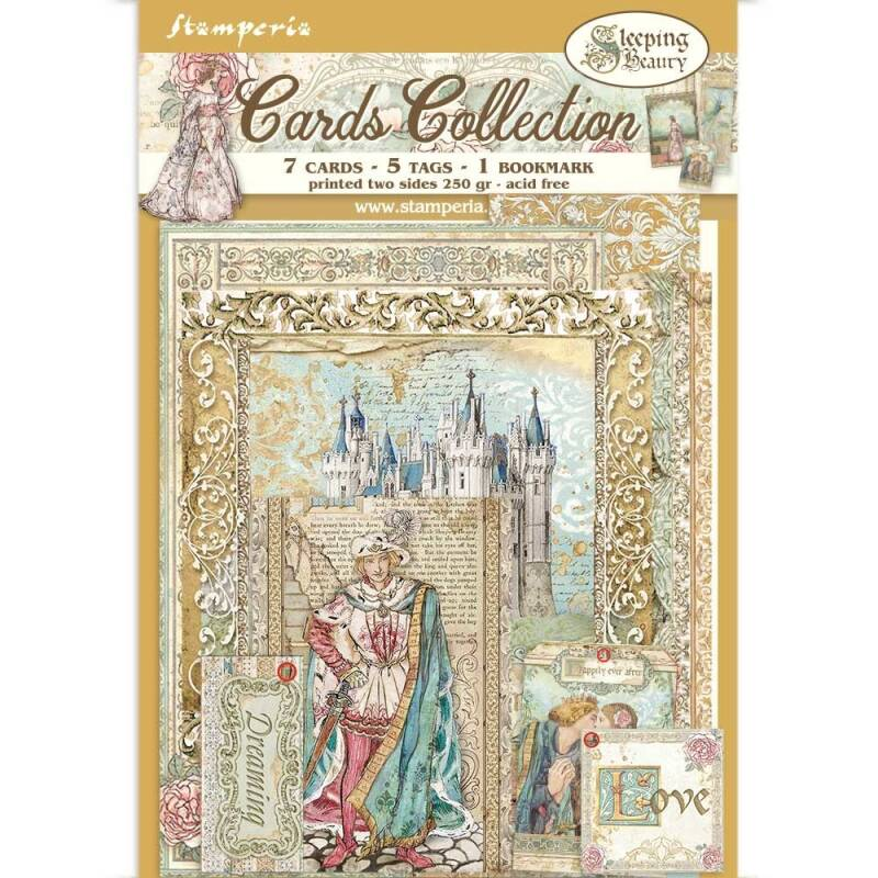Stamperia Cards Collection Sleeping Beauty (SBCARD05)
