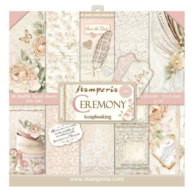 Stamperia Ceremony 12x12 Inch Paper Pack (SBBL42)
