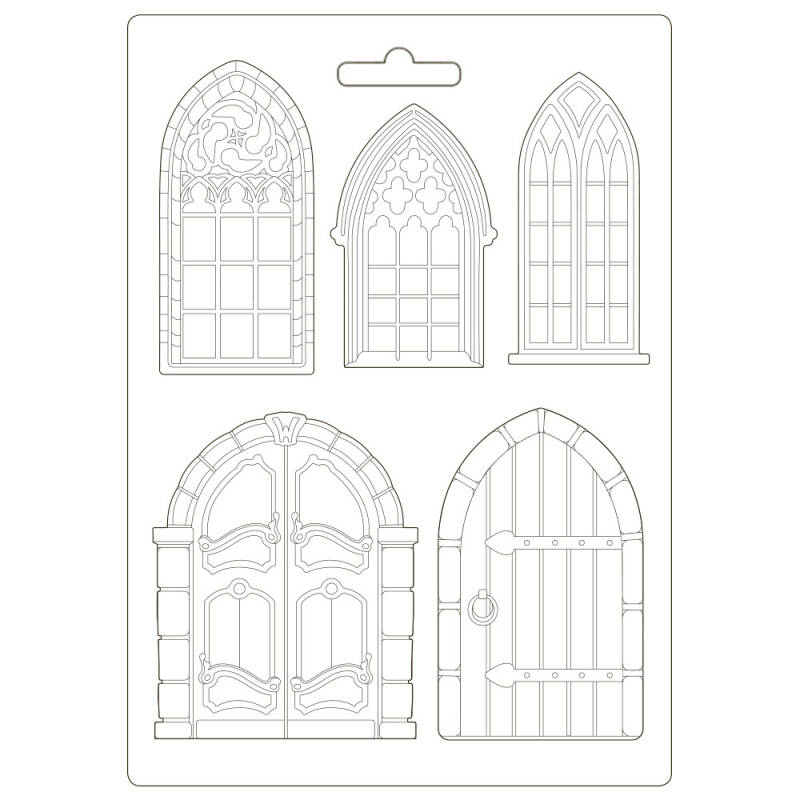 Stamperia Soft Mould A4 Sleeping Beauty Doors and Windows (K3PTA498)