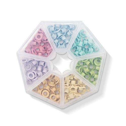 We R Memory Keepers Storage Pastel Crop-A-Dile Eyelets and Case (141pcs) (660383)