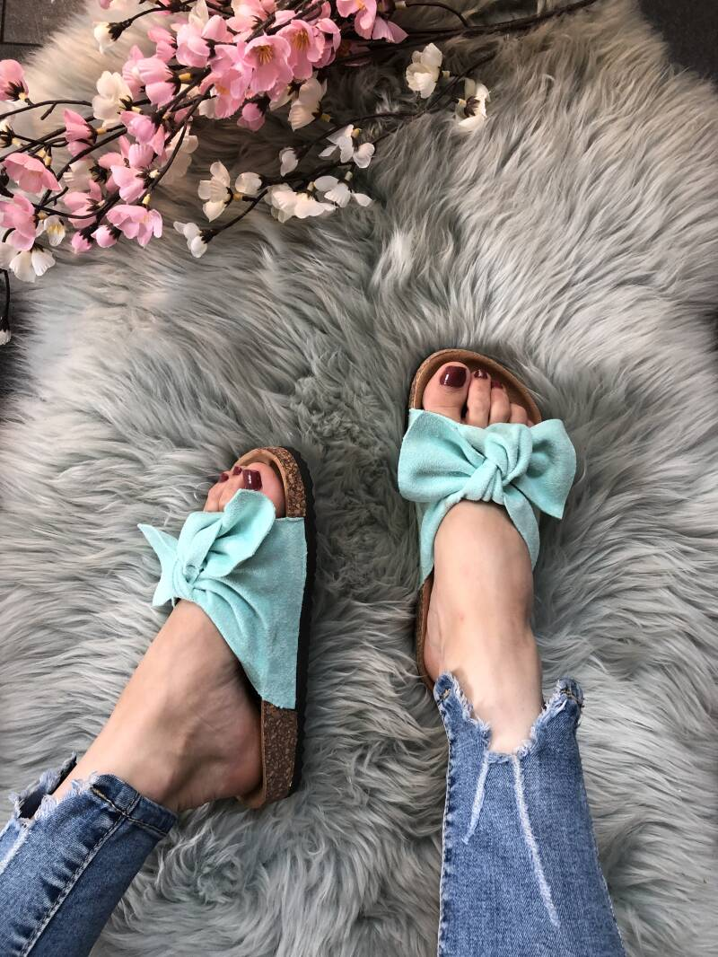 Slippers turquoise RL207