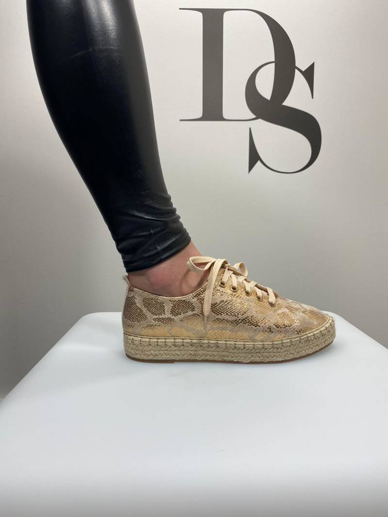 Espadrille sneaker champagne DS031