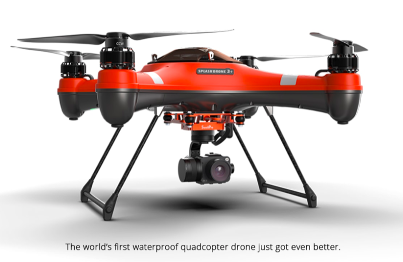 SALE - EN-02 - SplashDrone 3+ with PL3 Camera and Payload + an SD Card!