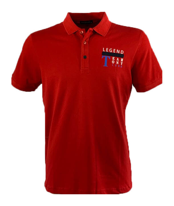 Polo stretch pique legend rood