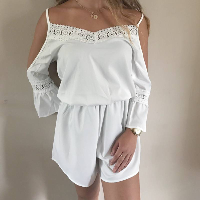 Ibiza off-shoulder playsuit