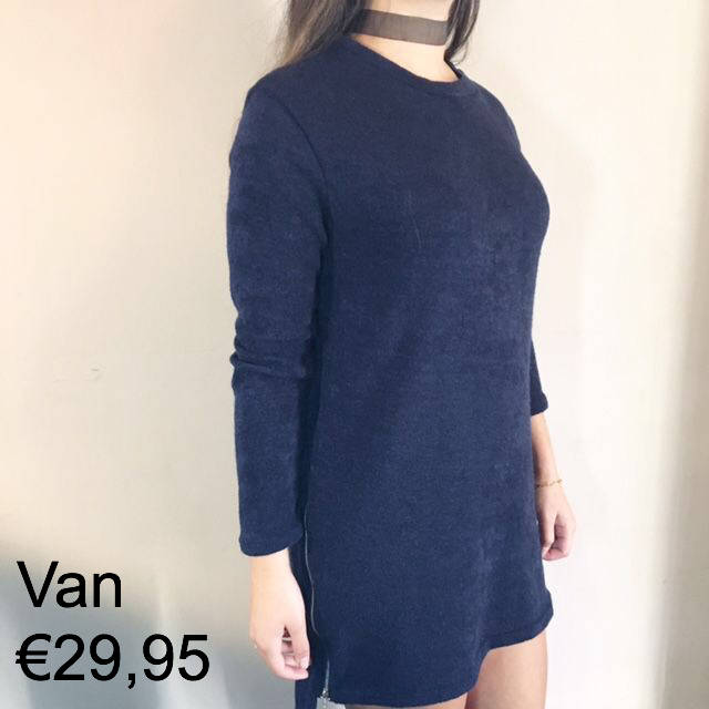 Zipper sweaterdress