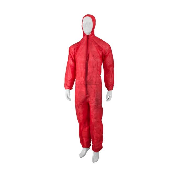 PDB Overall met kap non woven ROOD (vpe 50 st)