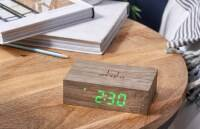 Flip Click Clock Ash / LED Green