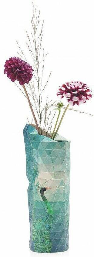 Paper Vase Cover - Peacock