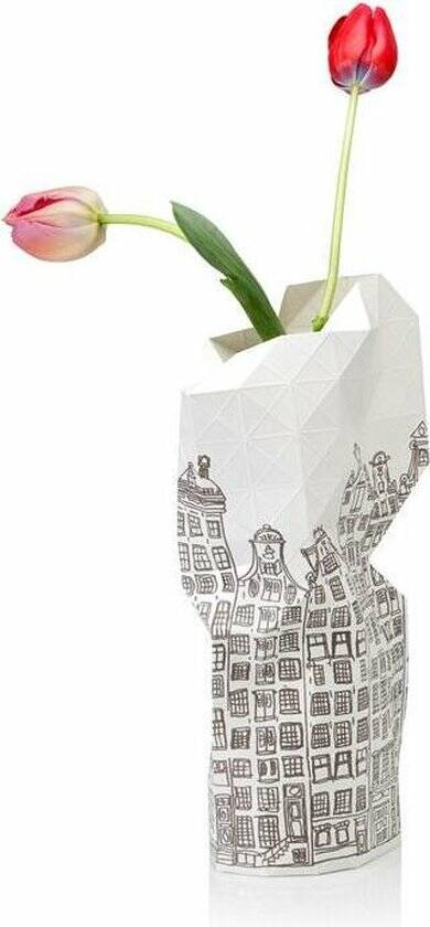 Paper Vase Cover - Canal Houses