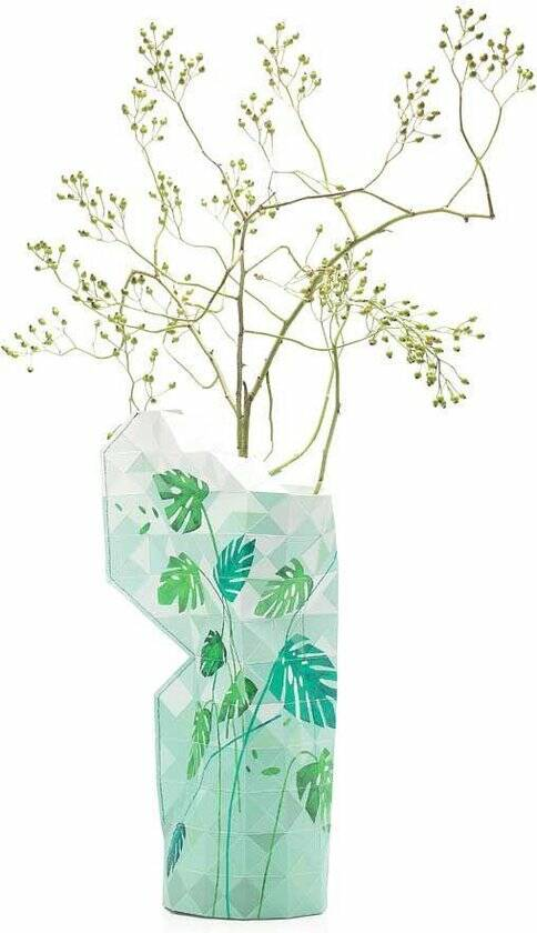 Paper Vase Cover - Jungle Leaves