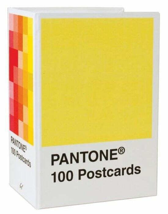Pantone postcard box 100 Postcards