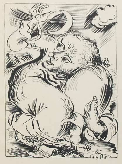 Ludwig Meidner Lithografie 'Untitled' 1918