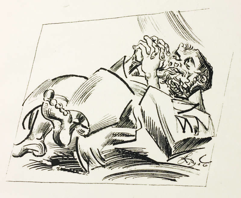 Ludwig Meidner Lithografie 'Untitled' 1916