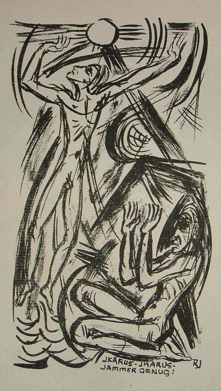 Richard Janthur (1883-1956 Berlin)  Lithografie