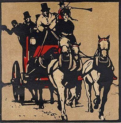 Sir William Nicholson  (Born 1872–1949 Great Brittain)  Kleurenlithografie