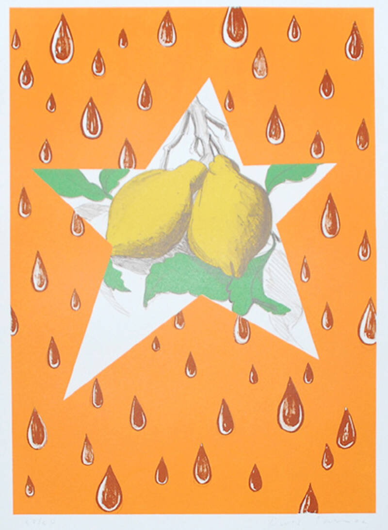 David Salle Kleurenlithografie 'The Lemon Twig' 2002  Gesigneerd
