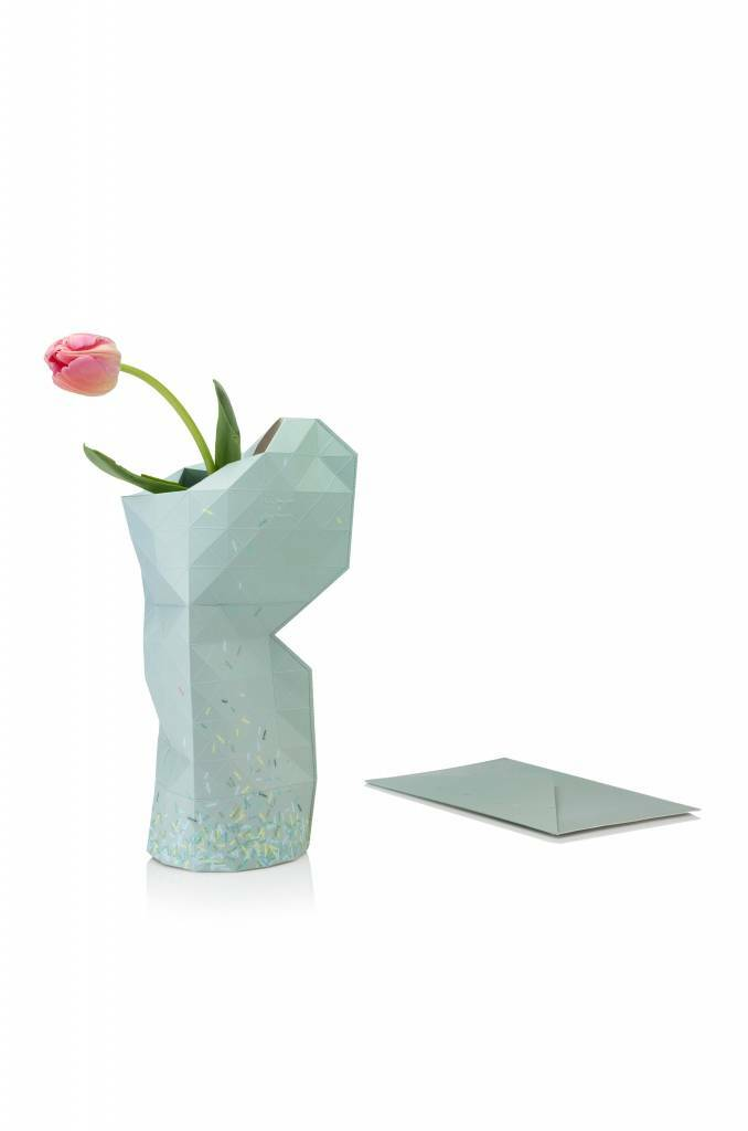 Paper Vase Cover - Green Ants
