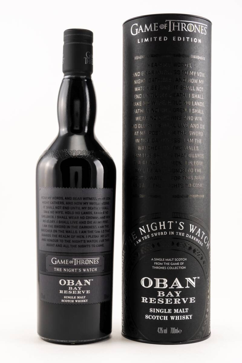 Oban Bay Reserve The Night's Watch - Game of Thrones Single Malt Whisky