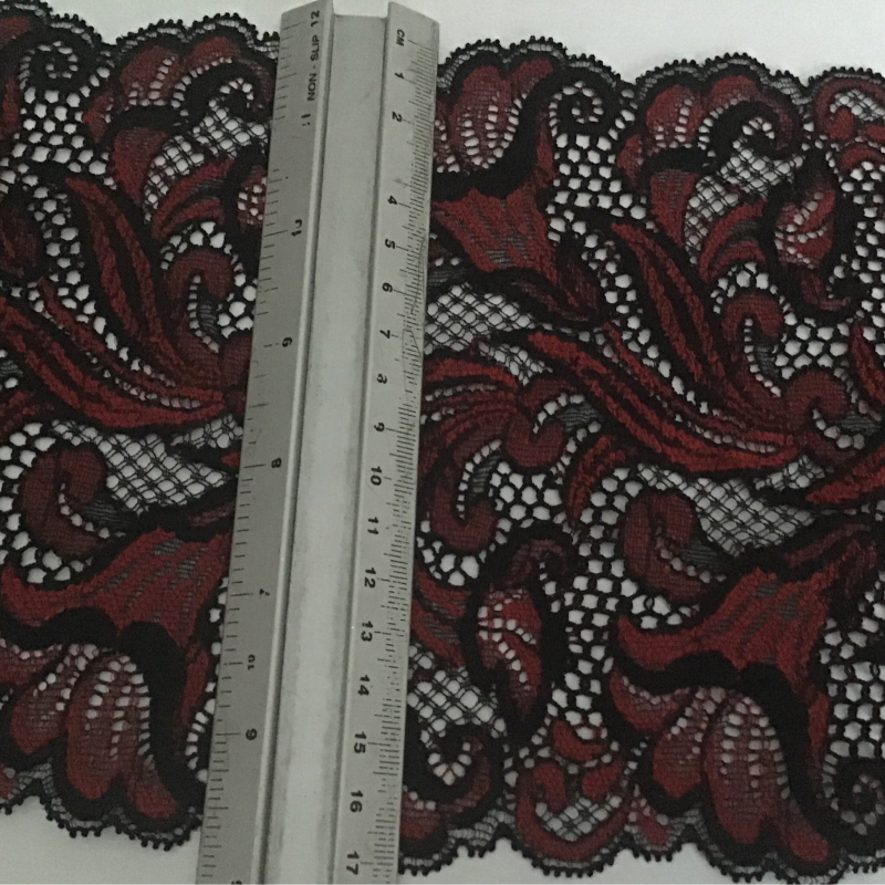 Black with deep red Lilly