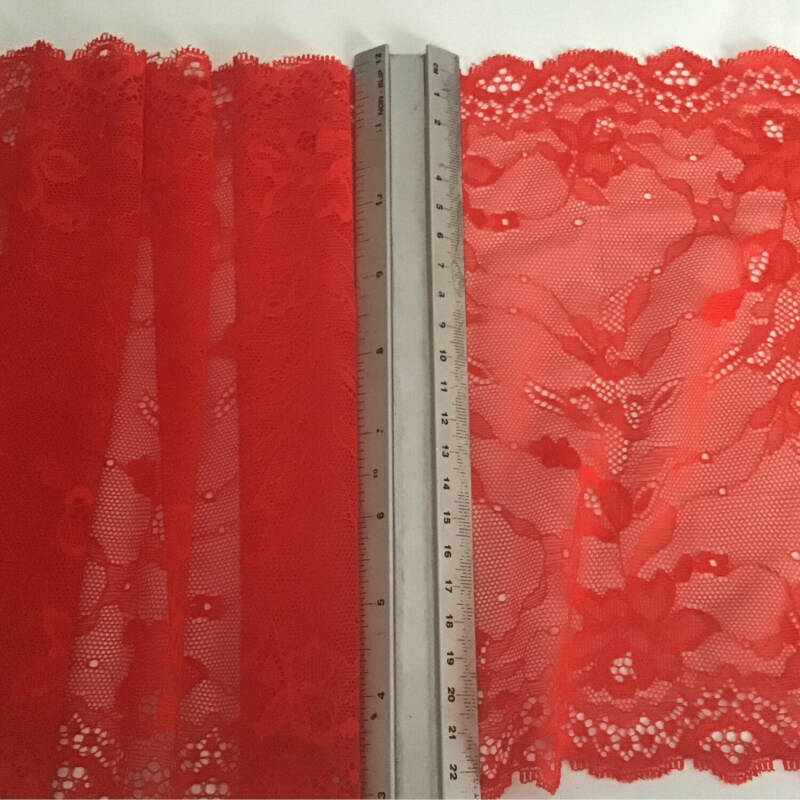 Scarlet Red Stretch Lace