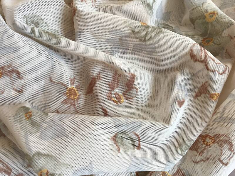 Cream muted floral
