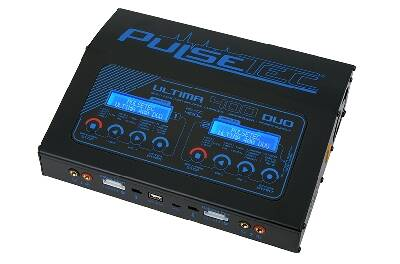 Pulsetec - Quad Charger - Ultima 400 Duo - AC 100-240V - DC 11-18V - 400W Power - 0.1-20.0A