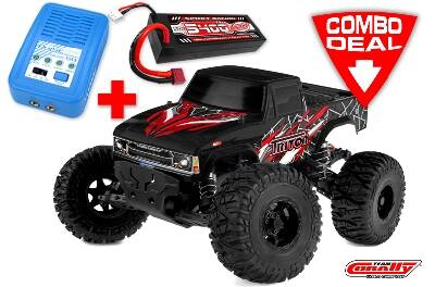 Brushless TRITON XP Combo - Met LiPo accu: TC Power Racing 50C 2S 5400mAh - Lader: Pulsetec Mega 50.