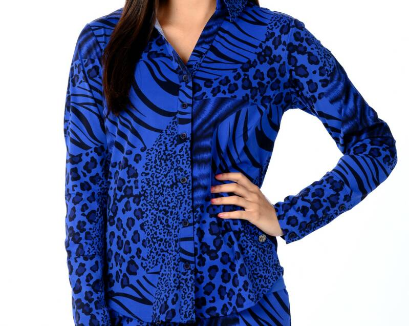 My Pashion Blouse Animal Blue