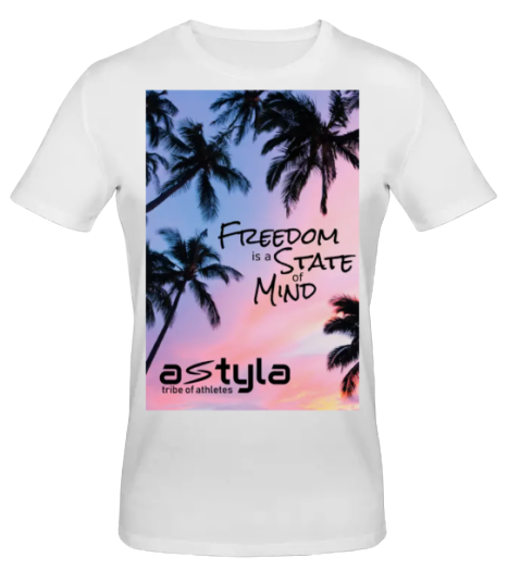 Freedom T-shirt Bio-cotton White