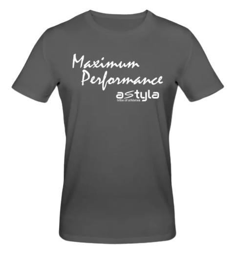 Maximum Performance Bio-cotton T-shirt Charcoal
