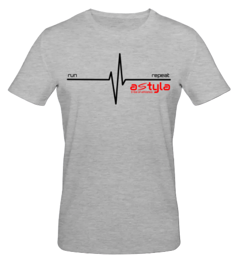 Heartbeat Bio-cotton T-shirt Grey Melange