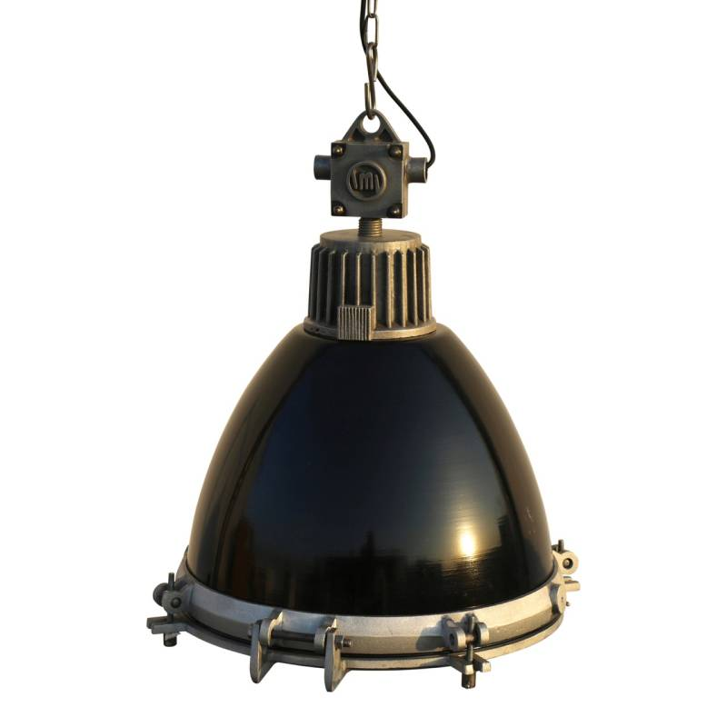 Industriele lamp zwart.
