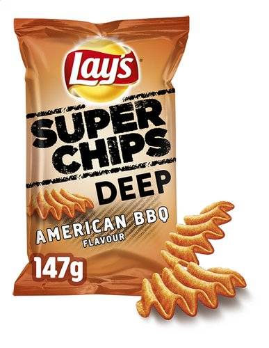 Lay's SuperChips American BBQ Flavour 147g