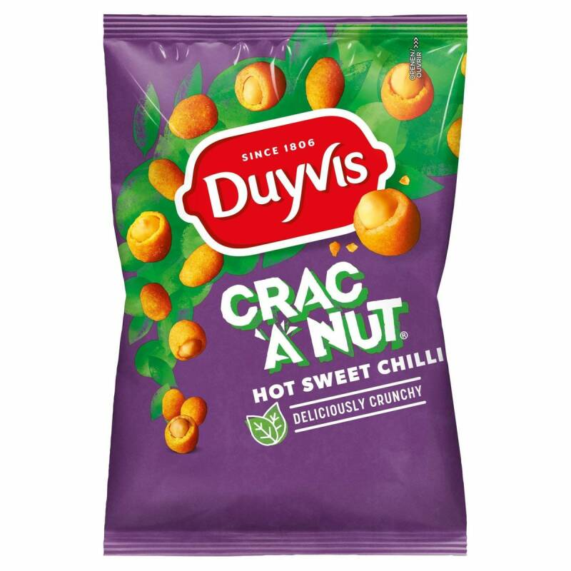 Duyvis Crac A Nut Hot Sweet Chilli 200gr